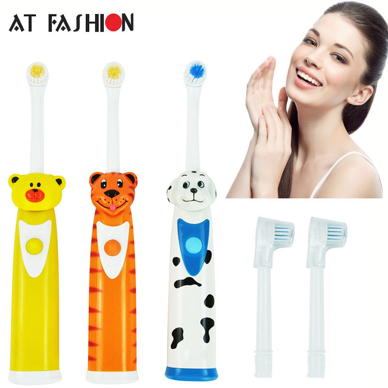 Cartoon Pattern Electric Toothbrush Kids Waterproof Soft Bristle Toothbrush Professional Oral Hygiene Teeth Care with 3 Heads 2017 teeth whitening oral irrigator electric teeth cleaning machine irrigador dental water flosser professional teeth care tools