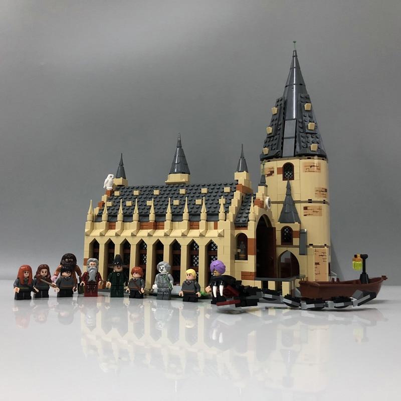 16052 фильм главный Дамблдор наборы Модели Строительные блоки 926 шт кирпичи замок зал Волшебные школьные игрушки подарок для детей 75954