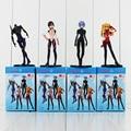 4pcs/set 10cm EVA Neon Genesis Evangelion Ayanami Rei Makinami Asuka PVC Action Figures Toys