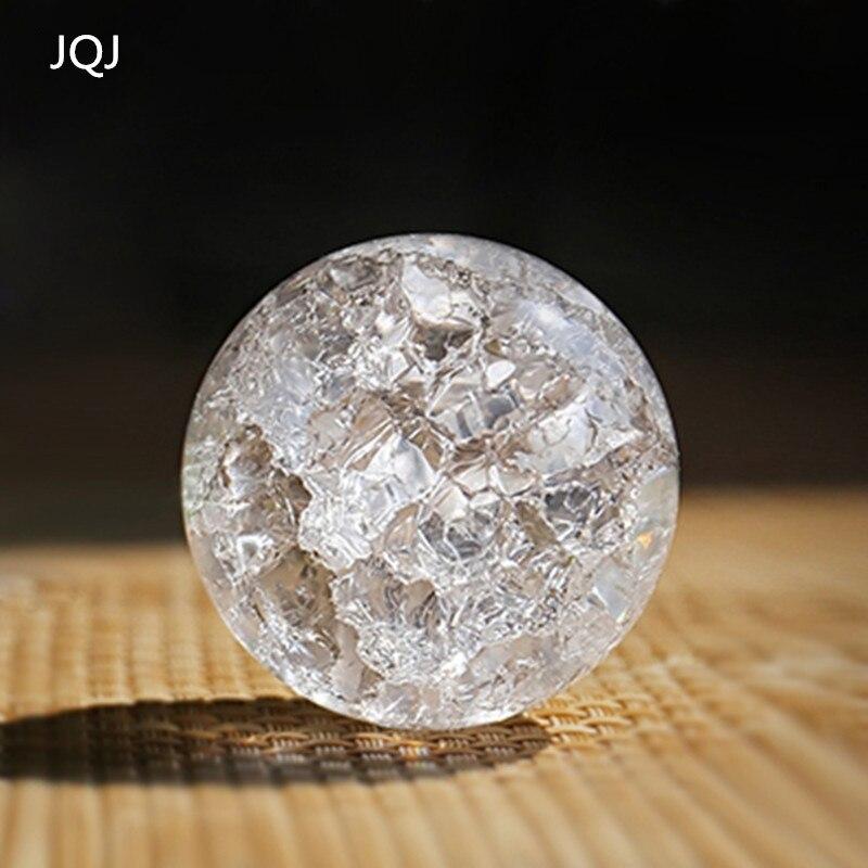JQJ Kristall Eis Knacken Ball Ornamente mode & geschenk hause Dekorative Wasser Brunnen Bonsai Glasmurmeln Kugel terrarium dekor