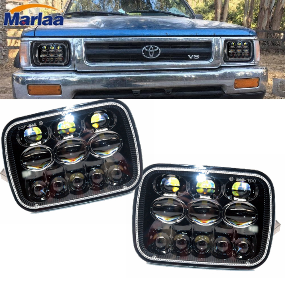 Marlaa pour Jeep Cherokee XJ 1984 à 2001 lampes 5x7