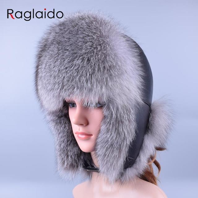 Raglaido cappello di Inverno Neve Russo Cappello di Pelliccia per Le Donne  e Gli Uomini Cappelli invernali e con pelliccia Reale Della ... e9a630123526
