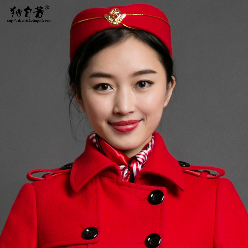 Stewardess Flight attendants Cap Bands flight attendants railway student performances Sexy Uniforms