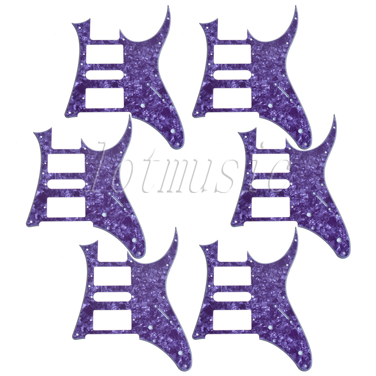6Pcs Purple Pearl HSH Eletric Guitar Pickguard For RG250 Style Replacement 8pcs new cream hsh guitar pickguard for ibanez rg250 style replacement