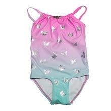 2017 Summer Childrens Girls Swimwear Cute Bikini Swimsuit for Kids Bathing Suit Cartoon Butterfly Biquini Infantil