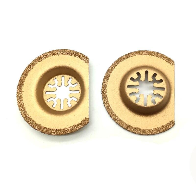 """עופרות להב היהלום טיטניום נדנוד רב כלי המסור 63 מ""""מ 1pc עבור כלי חשמל TCH Dremel Bosch פיין מכונות אוצר אוניברסלי (2)"""