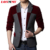 LONMMY M-6XL de Los Hombres blazers traje botones Individuales Casual mens únicos blazers vestido de Novia masculino slim fit Polyester + Lana 2016