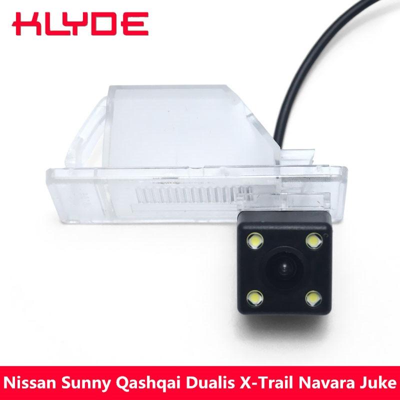 KLYDE 170 Degree HD Car Rear View Reverse Parking Camera For Nissan Sunny Qashqai Dualis X-Trail Navara Juke Geniss Pathfinder