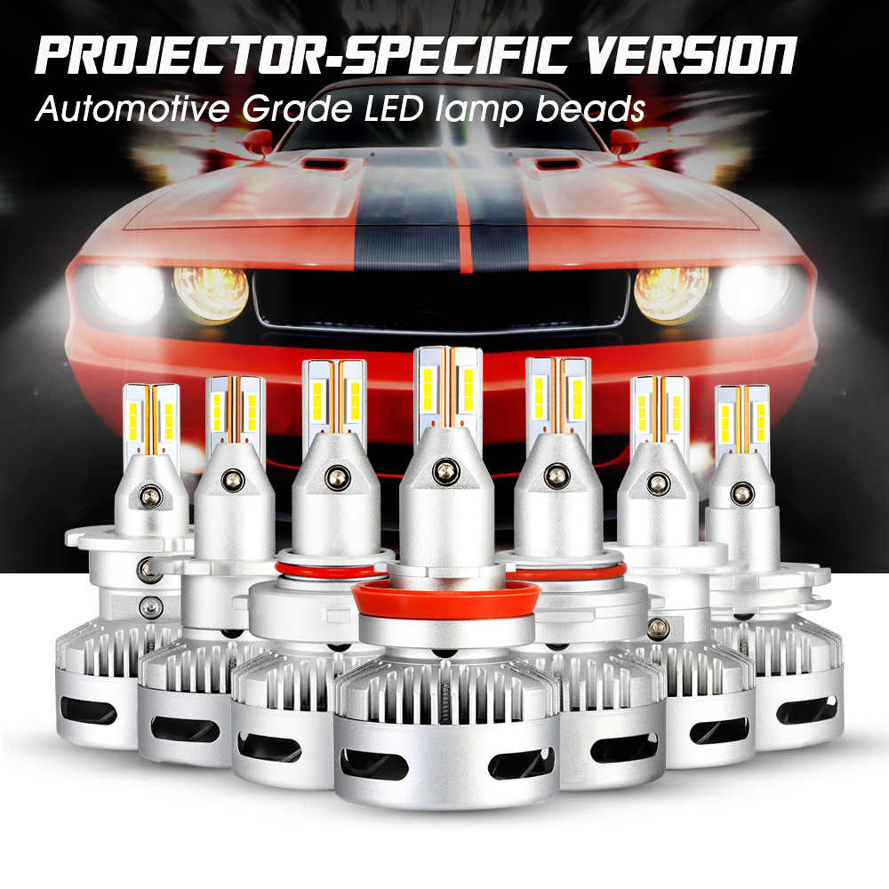 NOVSIGHT One Pair LED Headlight H7 H11 9005/9006 9012 12V 90W 12000LM 6500K White Car Auto Headlamp Fog Light Bulbs