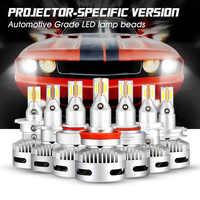 NOVSIGHT un par LED faro H7 H11 9005/9006 9012 12 V 90 W 12000LM 6500 K blanco Auto faro lámparas de luz de niebla