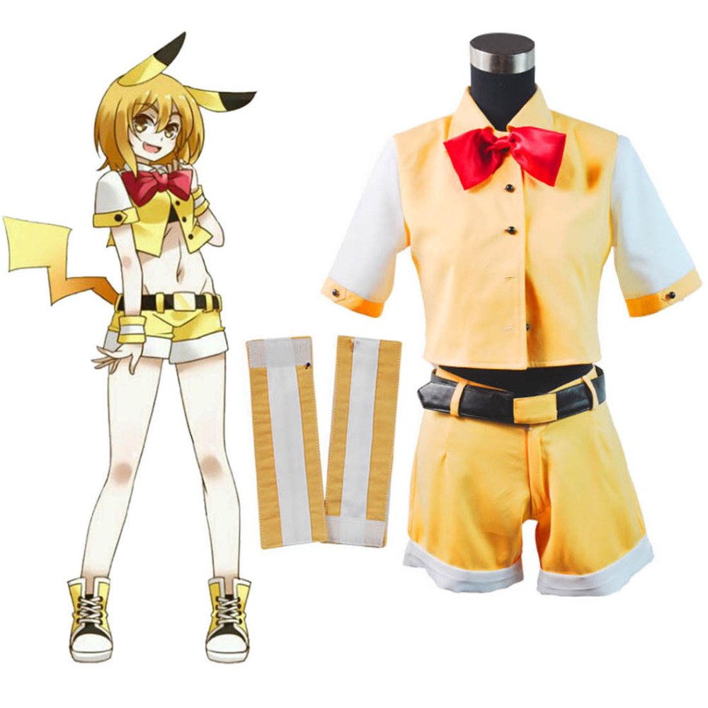 Pokemon Pocket Monster Fan Art Ver Pikachu Cosplay Costume Cute Girl Pikachu  Personification Costume Halloween Costumes 9fd4e240b