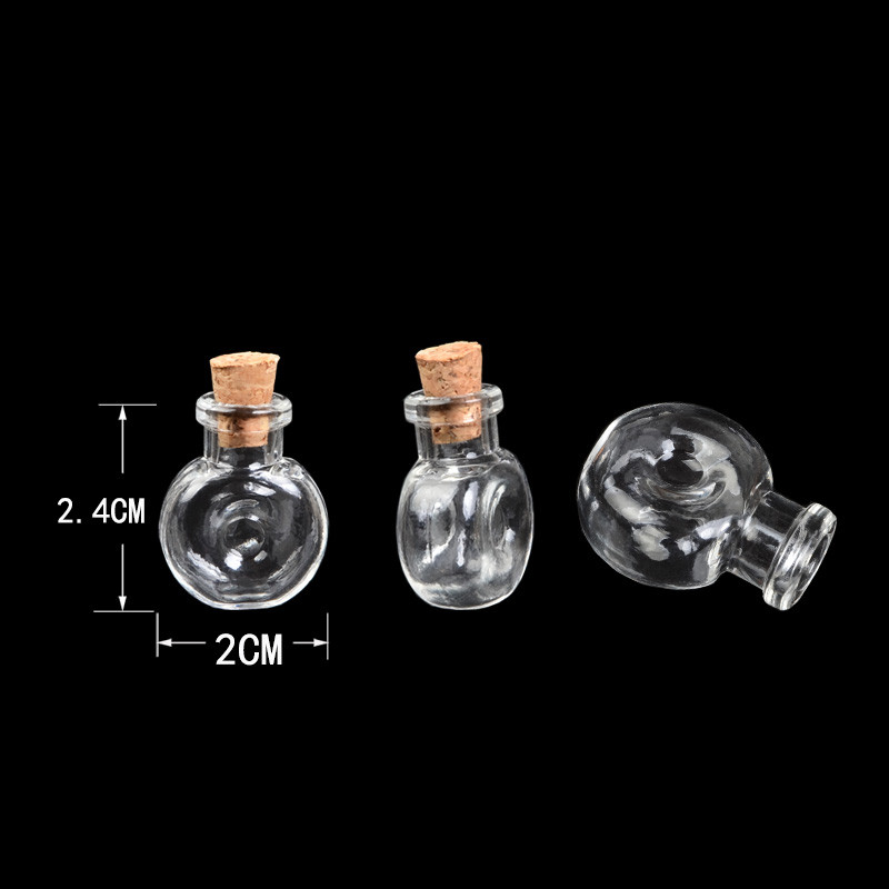 Mini Glass Winebottle Pendants Small Wishing Bottles With Cork Arts Jars For Necklace Pendants Gifts Vial XO3