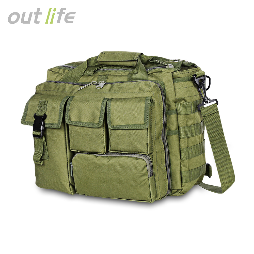 Outlife Multifunction Military Tactical Shoulder Bag Nylon Messenger Bag Laptop Handbags Briefcase Outdoor Climbing Hiking Bag
