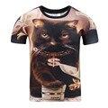Удивлен Кошки Футболка пушистые мягкие страшно Кошка лица awesome футболка Унисекс Женские Мужчины 3d Лето Стиль тис Плюс Размер