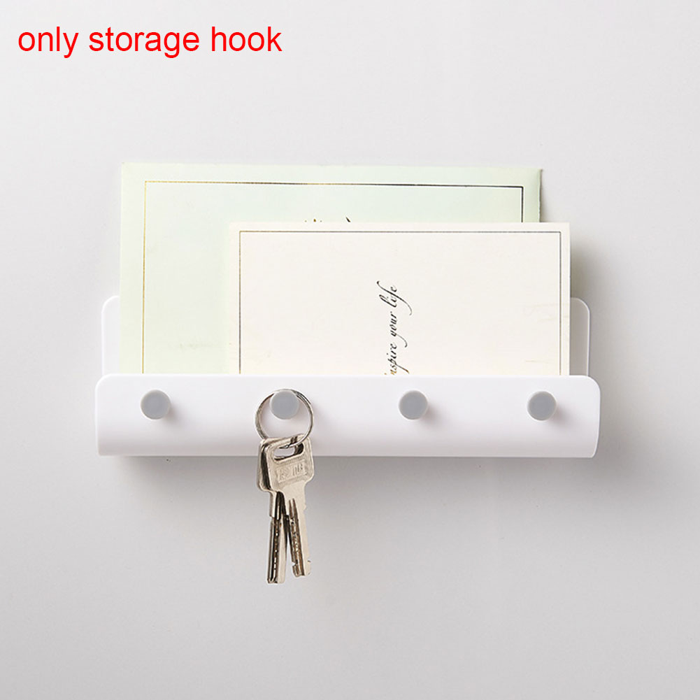Hook Rack Wall Mounted Practical Organizer U Shaped ABS Storage Durable Home Hanger Holder Adhesive Decor Key Hanging
