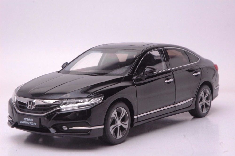 1:18 Diecast Model for Honda Spirior Accord Europe Black Sedan Alloy Toy Car Miniature Collection Gifts Van 1 18 diecast model for buick lacrosse black classic sedan alloy toy car collection gifts