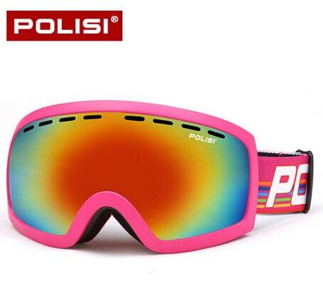 Polisi profesional lente ski snowboard gafas de doble capa anti-vaho gafas de ni
