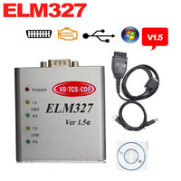 En iyi Kalite ELM327 Metal Alüminyum OBD2 Otomatik Teşhis Aracı ELM 327 USB Metal Arabirim Kod Okuyucu Tarayıcı V1.5/V1.5a