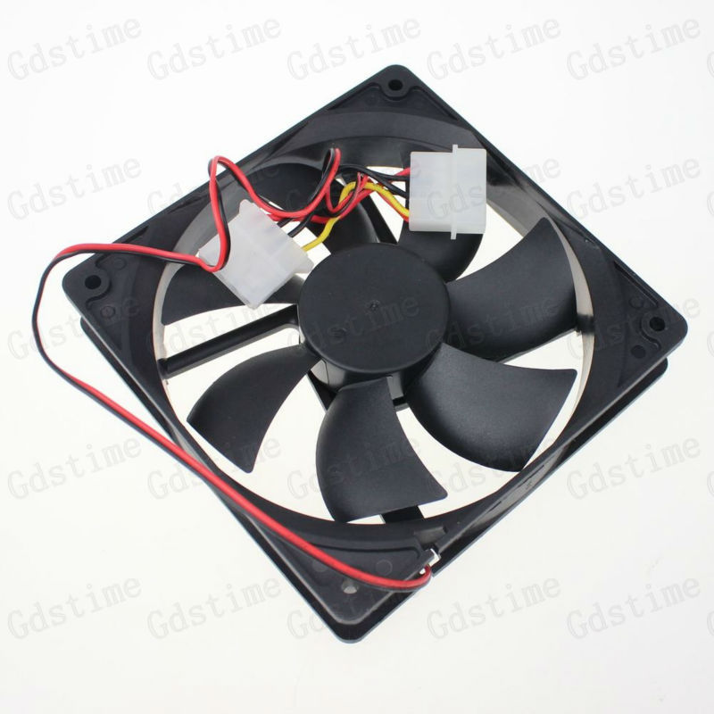10pcs 4Pin New 120mm 120x120x25MM 5 Inches 12V DC Quiet PC Computer Case Cooler Fan new 3u ultra short computer case 380mm large panel big power supply ultra short 3u computer case server computer case