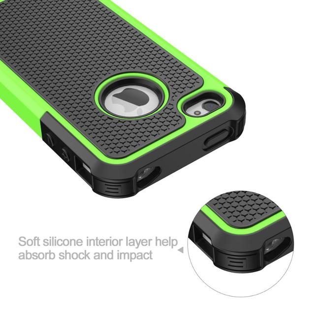 Case for iPhone 4 4S Rugged Rubber Matte