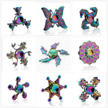 2017 New Rainbow Hand Spinner Handspinner Fidget Toys Naruto Zinc Alloy Deak Toys Anti Stress Kids