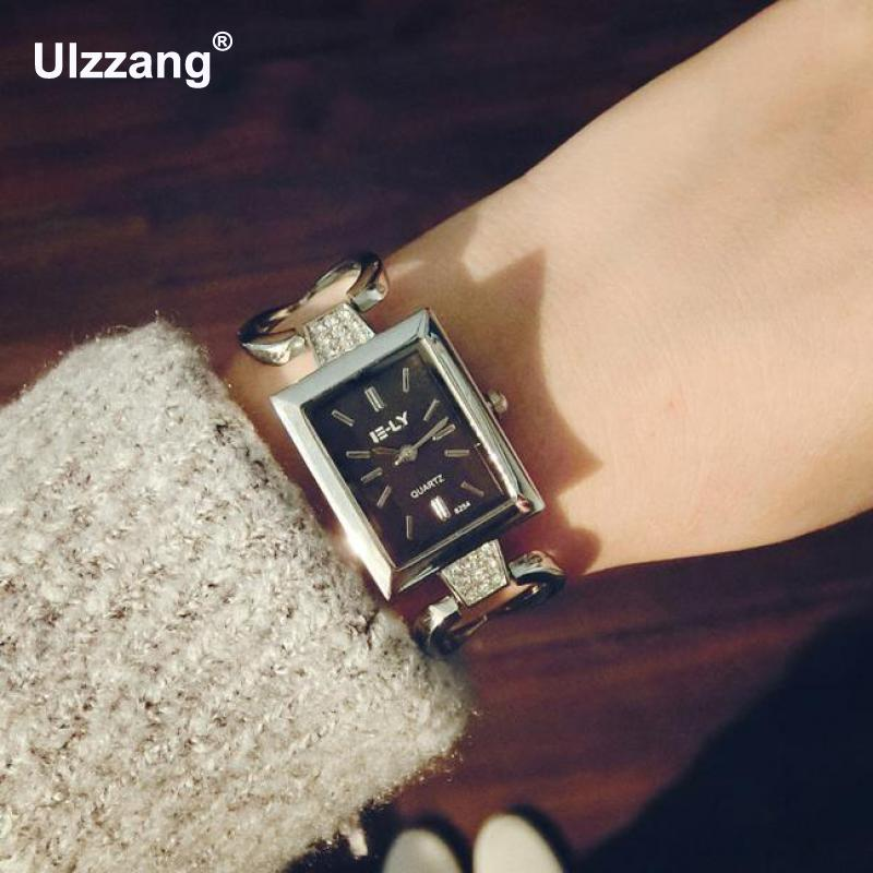 2017 Fashion Luxury Women Ladies Quartz Square Watch Relogio Feminino Business Dress Clock Female Gifts Casual Wristwatch new fashion unisex women wristwatch quartz watch sports casual silicone reloj gifts relogio feminino clock digital watch orange