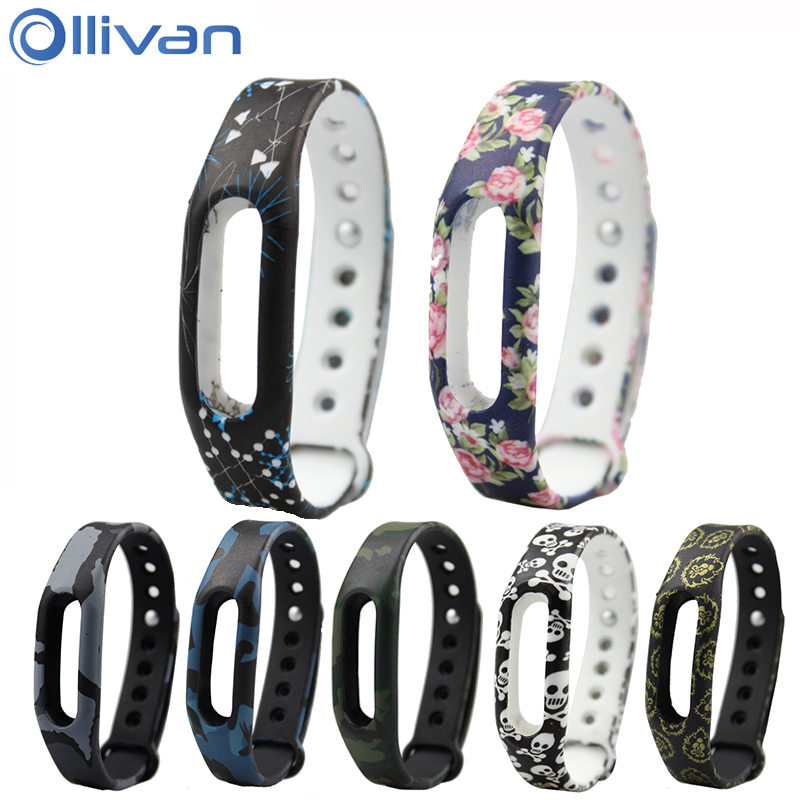 Ollivan Colorful Silicone Replacement Strap Wrist Band Bracelet Silica