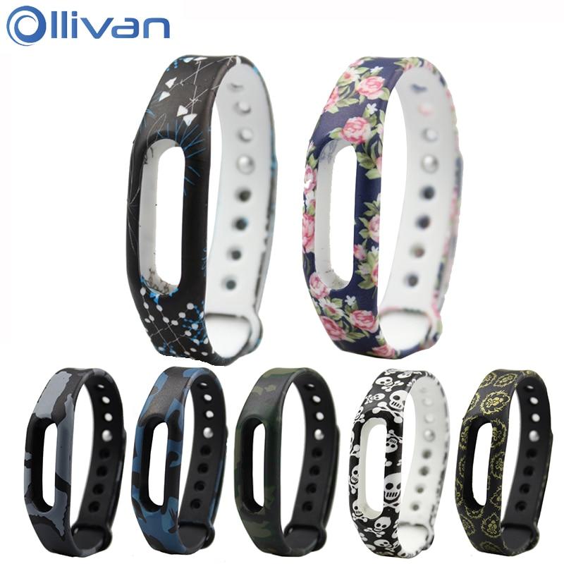 Ollivan Colorful Silicone Replacement Strap Wrist Band Bracelet Silica Wrist Strap For Xiaomi Miband Mi band 1 & 1S Smart Band replacement wrist strap wearable wrist band for xiaomi bracelet