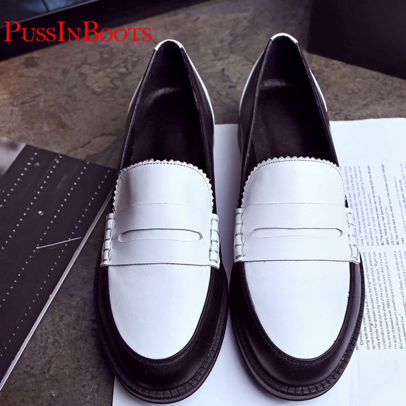 ФОТО Flat Shoes Women Genuine Leather Woman Shoes Famous Ladies brand Loafers Fashion Shoes For Women Shoes Drop Shipping