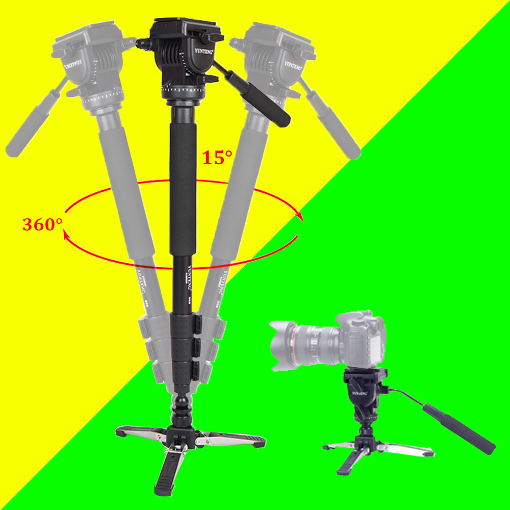 Yunteng 588 For Canon Nikon Sony Phones DSLR Camera DV Camcorder Photography Tripod Monopod Fluid Drag Head Update Of VCT-288 штатив canon dv