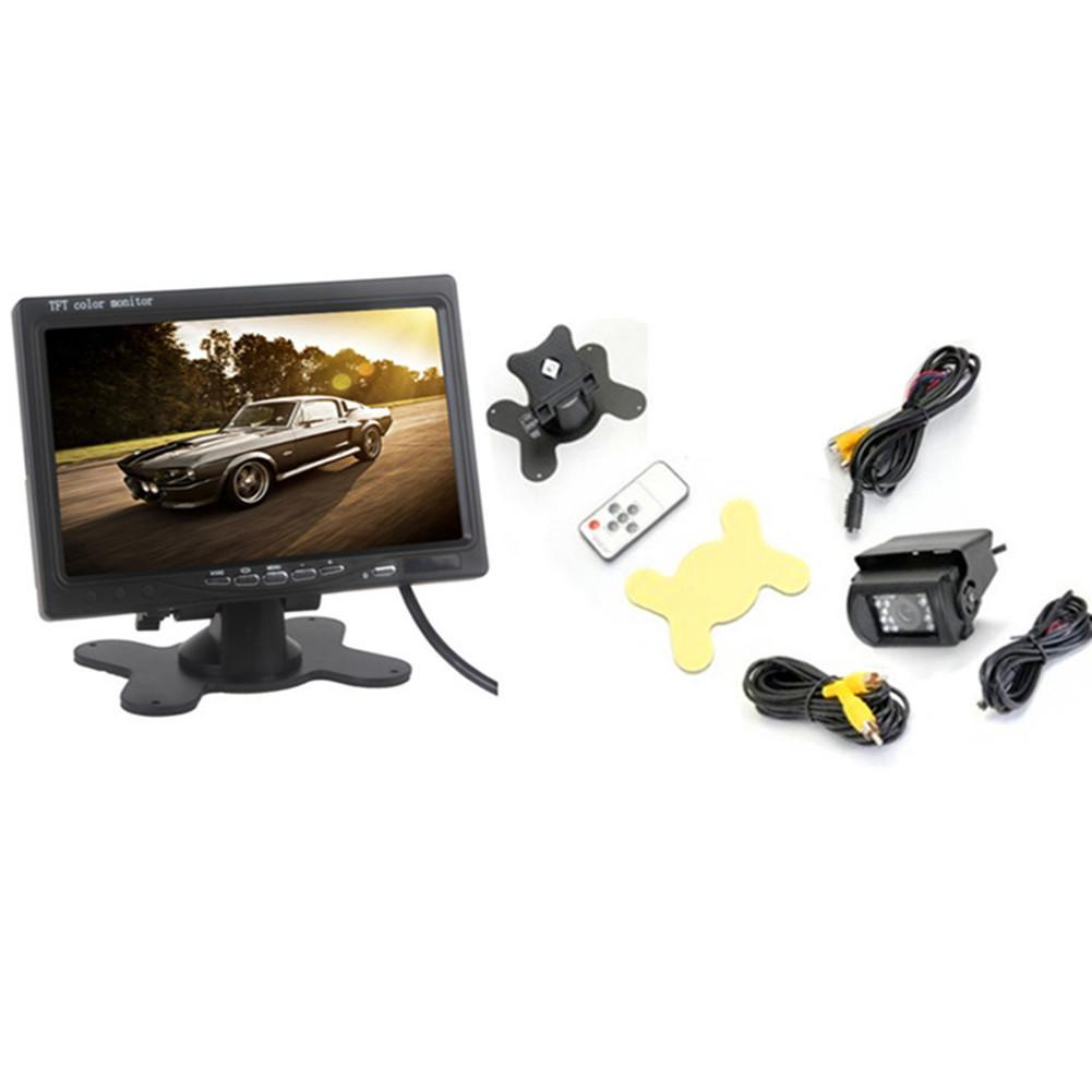 High Quality Universal 7 Inch Car HD LCD Display & 18 LED Bus Camera Monitor Kit Rear View Display Car Player Car Accessories