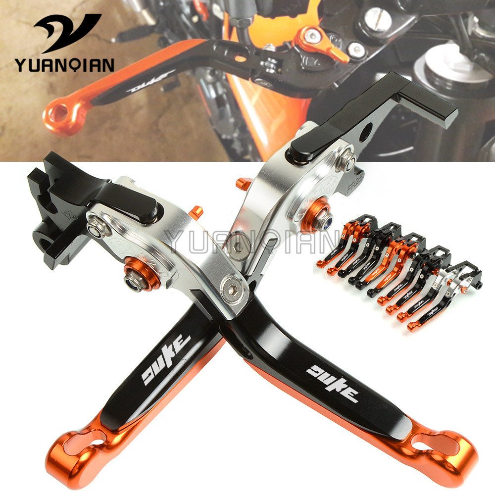 Motorbike Foldable Lever For KTM 790 DUKE 2018 790Duke CNC Aluminum Motorcycle Adjustable Folding Extendable Brake Clutch Levers for honda crf1000l africa twin 2015 2018 foldable extendable clutch brake levers folding extending cnc 2016 2017 adjustable