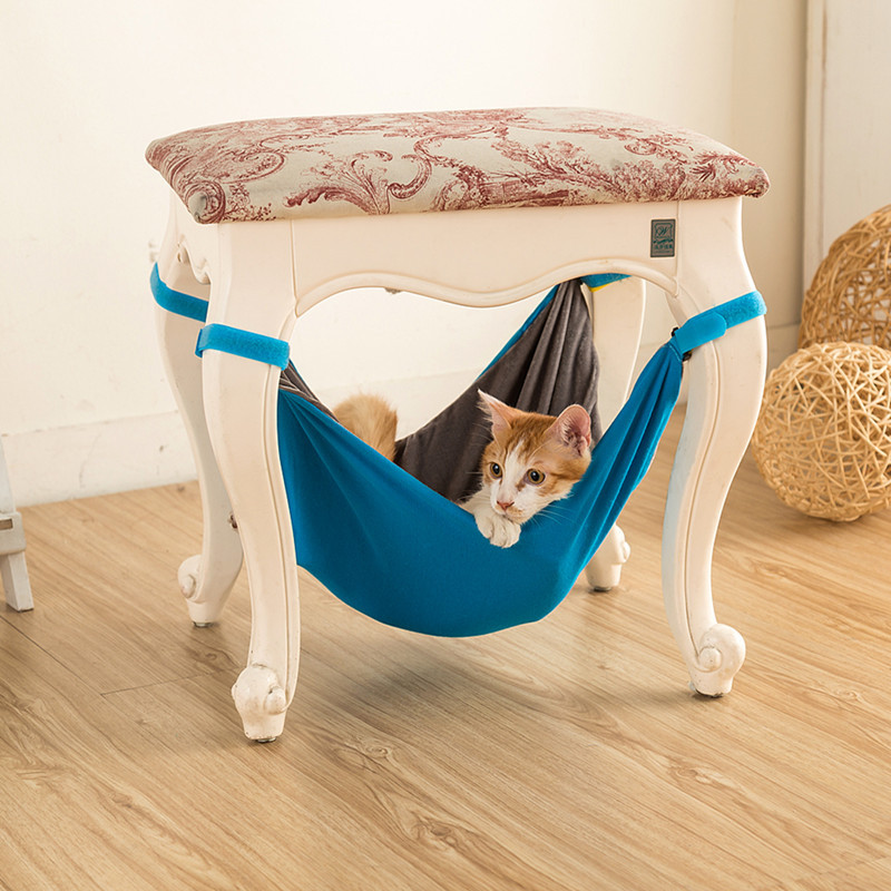 Pet Kitten Cat Hammock Bed Hanging Removable Hanging Soft Bed Cages for Chair Kitty Rat Small Pet Comfortable dog cat bed