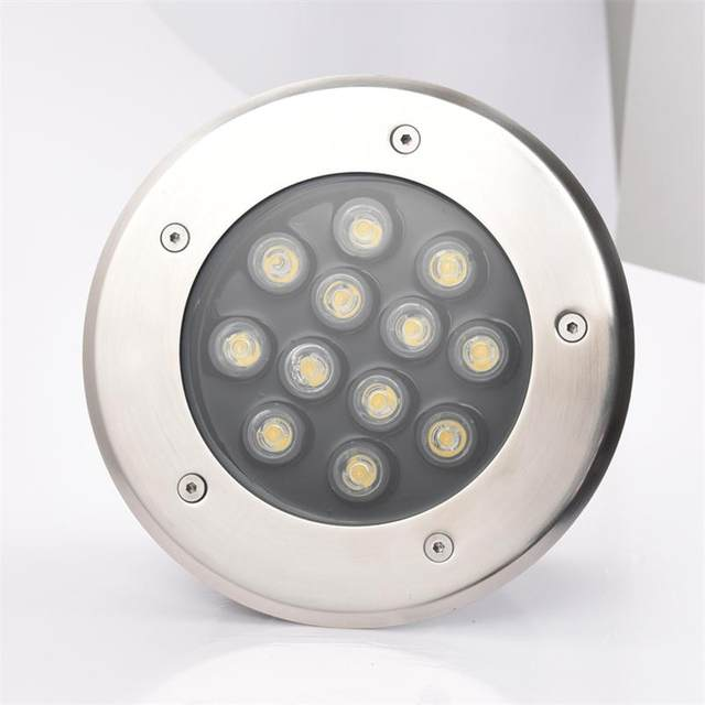 Outdoor Recessed Led Lighting 12w Round Underground Fixtures Ac85 265v Exterieur Encastrable Spot Sol