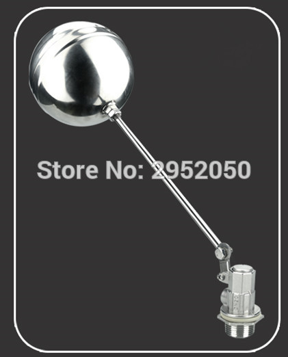 Free shipping 3/4 Dn20 Stainless Steel Float Valve Floating Valve Cold And Hot Water Tank Water Tower free shipping mj dn20 g3 4 water tank plastic float valve water float valve flush valve toilet flush valve