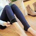 New Women Winter Warm Leggings Elastic High Waist Slim Tone Leggings Solid Thick Artificial Slim Stretch Pants Lady 7 Colors