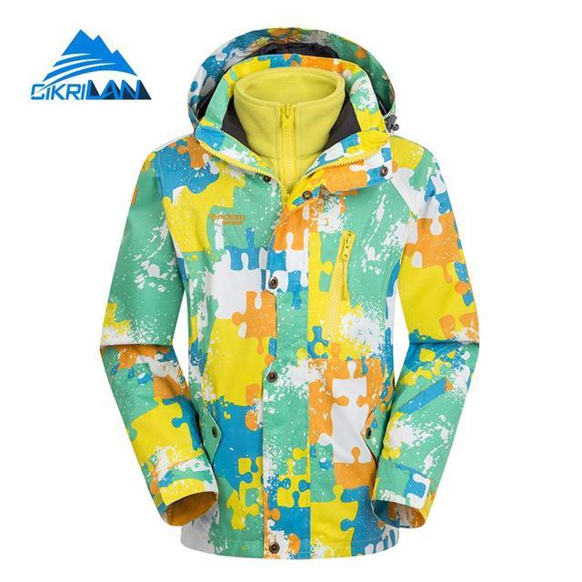a1979e24c Hot Leisure Sports Ski Hiking Outdoor Winter Jacket Boys Girls Camping  Snowboard Windstopper Waterproof Coat Kids Fleece Inner