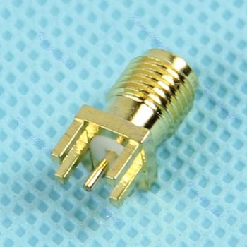 Edge Mount PCB Board Receptacle RP SMA Male Jack Connector Adapter image