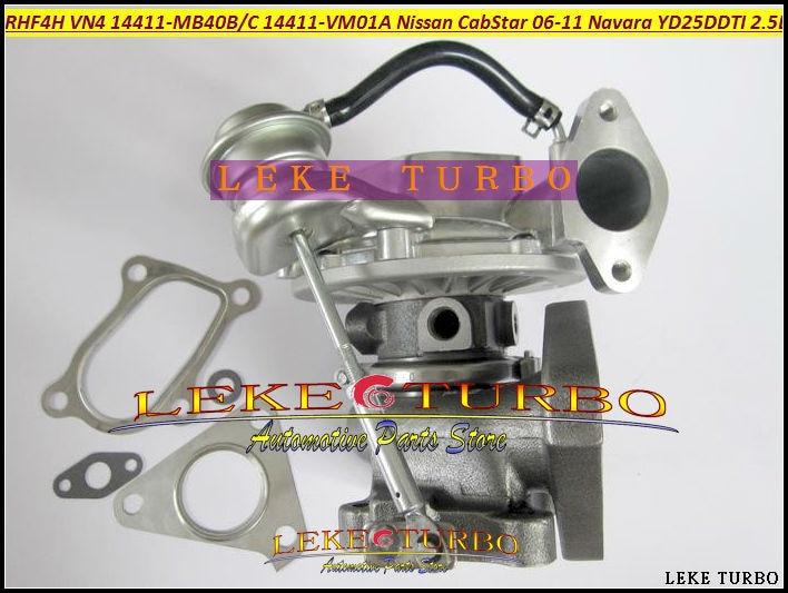 цены Turbo RHF4H VN4 14411-MB40C 14411 MB40C 14411MB40C Turbocharger For NISSAN CabStar 2006-11 Navara D22 YD25DDTI DCI 2.5L 110HP