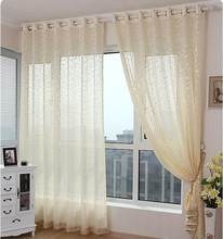 FYFUYOUFY pastoral living room balcony voile curtains Small floral jacquard tulle curtain Smooth and flowing natural tulle(China)
