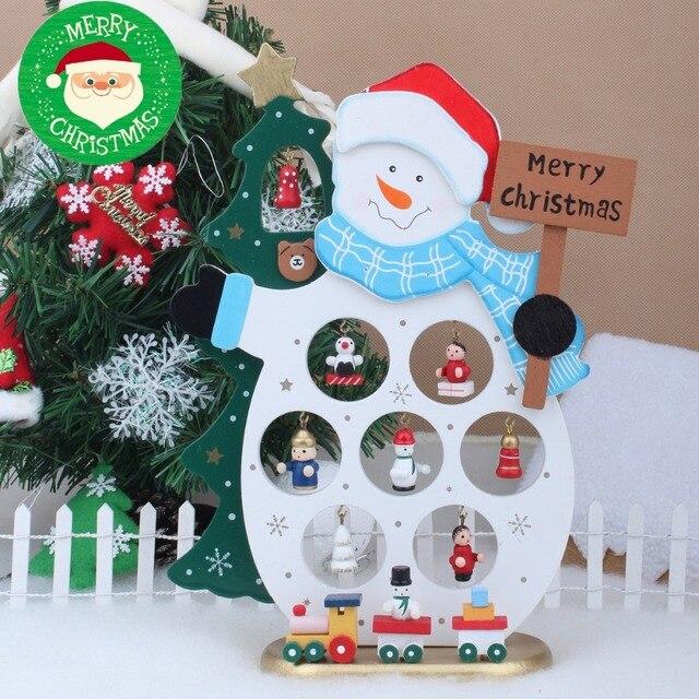 Творчі Різдвяні Прикраси, DIY Дерев'яні Сніговик Настільні Прикраси, Різдво Дитина Подарунок Різдвяна Ялинка Прикраси Новий Рік Декор