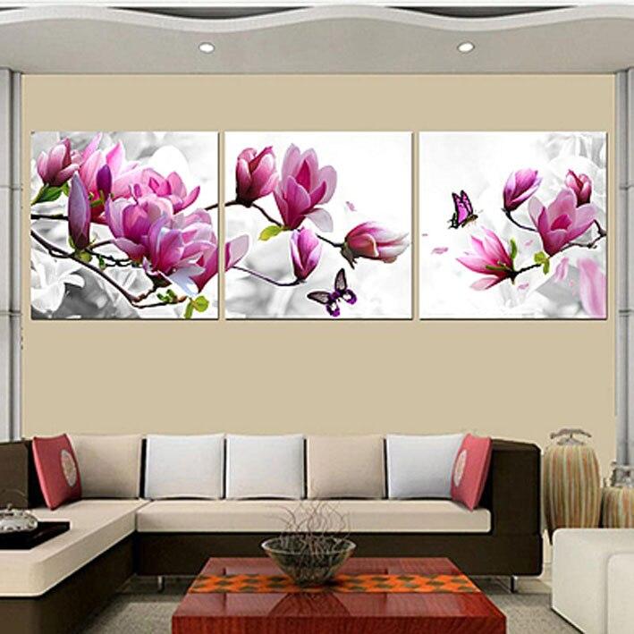 3 Panneau Fleur HD Imprimer Peinture Toile Minion Moderne Mur Art Photo Pour Couloir Décoration des Motifs