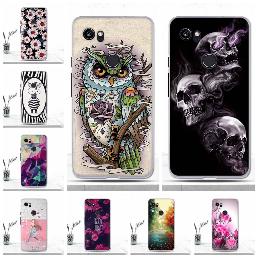 3D Relief Case For Google Pixel 2 XL Coque Protective Soft Silicone TPU Phone Case For Google Pixel 2 XL Cover Cases Fundas Capa