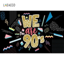 Laeacco We Are 90s Night Party Carnival Black Backdrops Portrait Photography Backdrop Photographic Background Photo Studio