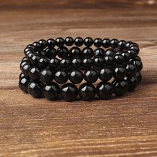 LIngXiang Fashion Natural Jewelry Black tourmaline stones loose beads bracelet be fit for Glamour rmen and women amulet