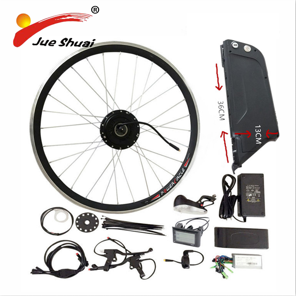 Sales Promotional 48V 10AH Electric Bike Kit With Rear Rack and Kettle Battery 500W Geared Motor for 26 27.5 28  ebike Kit hot sale rear rack drawer type 36v 10ah electric bike li ion battery 36v 10ah e bike kit 36v 500w battery