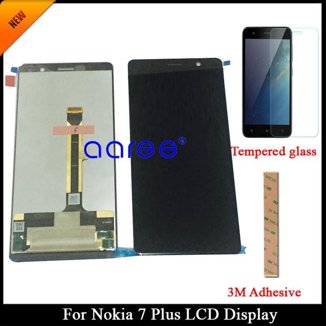 100% נבדק כיתה AAA LCD תצוגה עבור Nokia 7 בתוספת LCD עבור נוקיה 7 בתוספת TA-1046 LCD מסך מגע Digitizer עצרת