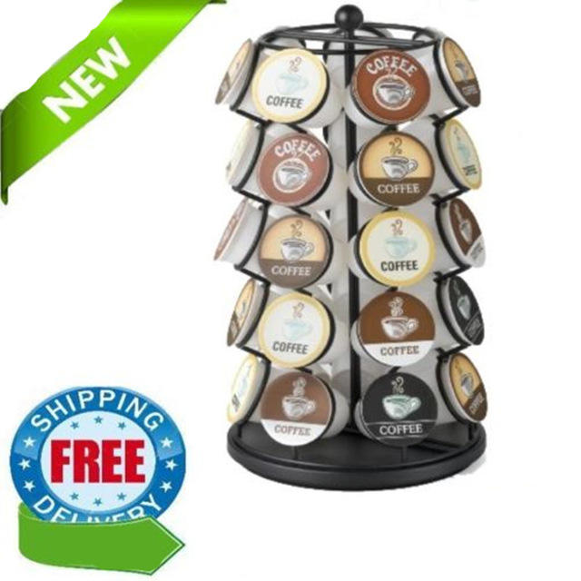 New Black <font><b>Keurig</b></font> 35 <font><b>K</b></font> <font><b>Cups</b></font> <font><b>Pod</b></font> Carousel <font><b>Coffee</b></font> <font><b>Holder</b></font> <font><b>Coffee</b></font> <font><b>Pod</b></font> <font><b>Holder</b></font> <font><b>Storage</b></font> <font><b>Organizer</b></font> <font><b>Cup</b></font> Rack Rack Tower Free Shipping