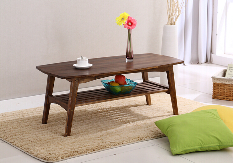 Modern Wooden TV Center Sofa Table 2 Finish Living Room Solid Wood  Furniture Computer/Laptop Japanese Low Coffee Table Design