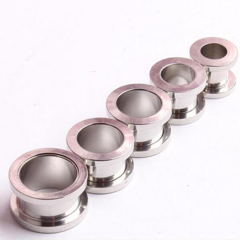 Stainless Steel Double Flare Screw Silver Plugs 10 Sizes Free